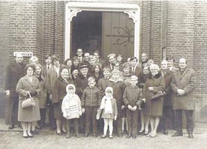 familiefoto huwelijk Uulkje en Jan 1971