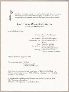 Rouwkaart-Gery-Smit-Klaver