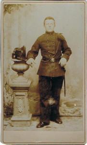Dirk Visser 18841-1942 diensttijd foto van 1900