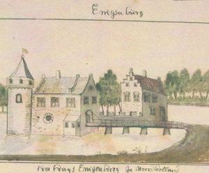 Eenigenburg kasteel 1730 A de Haan
