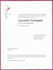 rouw Cornelis Portegies 1971