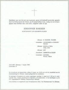 rouw Jan Bakker 1995