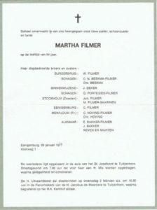 rouw Martha Filmer 1977