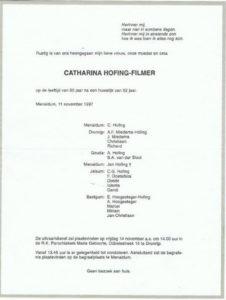 rouw Tinie Hofing Filmer 1997