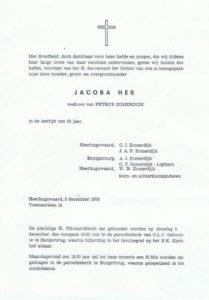 rouwcirculaire kopie Kaatje Zomerdijk Hes