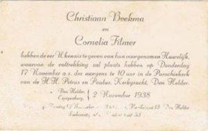 trouwkaart en 40 jaar getrouwd Chris en Nel Beekman 1