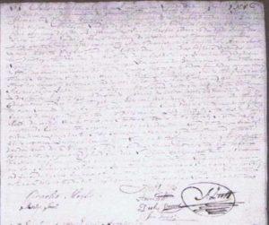 gedeelte huwelijksakte 1817 Cornelis Meijlews en Antje Smitt