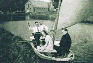 Stroopers in de boot, Jacob Strooper , Evert de Vries Geertje Strooper en Aagje Strooper-Dekker