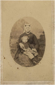 Geertruida Quant- de Jongh derde echtgenote van Pieter Quant met zoon Klaas Quant