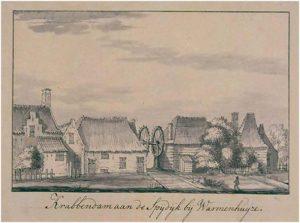Krabbendam aan de Spijdijk bij Warmenhuijze. 1727