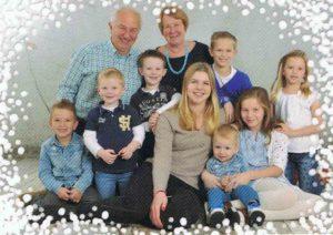 Wim en Petra Meijles met hun kleinkinderen (2015)