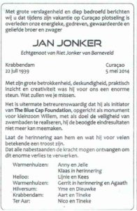 advertentie Jan Jonker Krabbendam