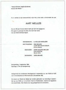 circulaire Aart Meijles