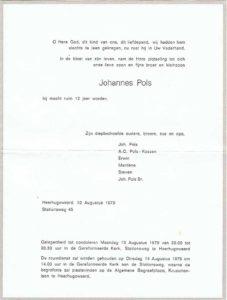 rouw Johan Pols