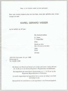 rouw Karel Visser