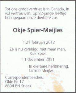 rouw Okje Meijles