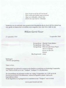 rouw Wim Visser